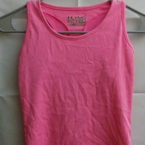 Under Armour Other - Under Armour Girls Neon Pink Tank Top Youth M